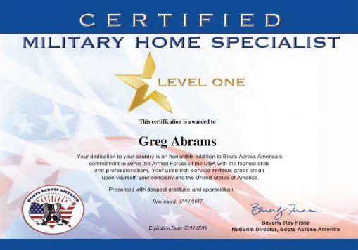 Greg Boots Across America Certificate